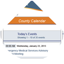 County mobile site layout